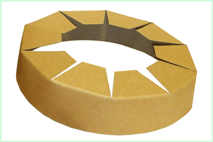 Vカットアングルのコイル状の側面保護