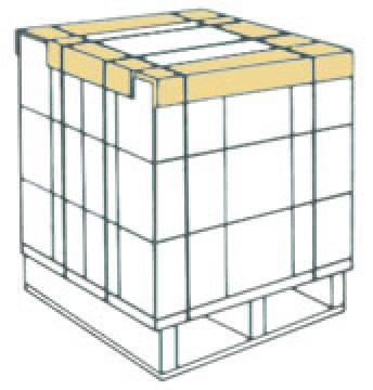 ダンボールケースの保護・補強用エコアングル