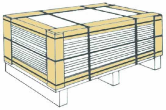 パレット梱包の保護・補強用エコアングル
